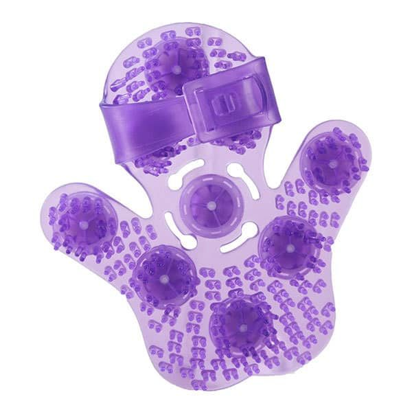 Roller Ball Massage Glove (Purple) Top