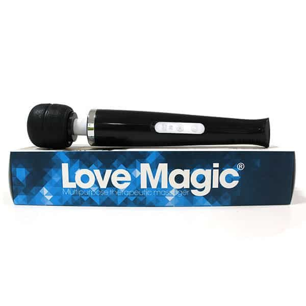 20 Speed Rechargeable Magic Wand Hand Held Massager (Black) Box