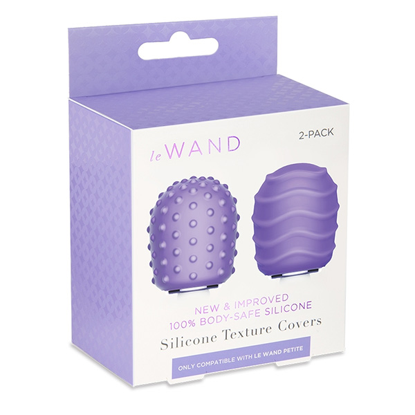 Le Wand Petite Texture Covers 2-Pack (Violet)