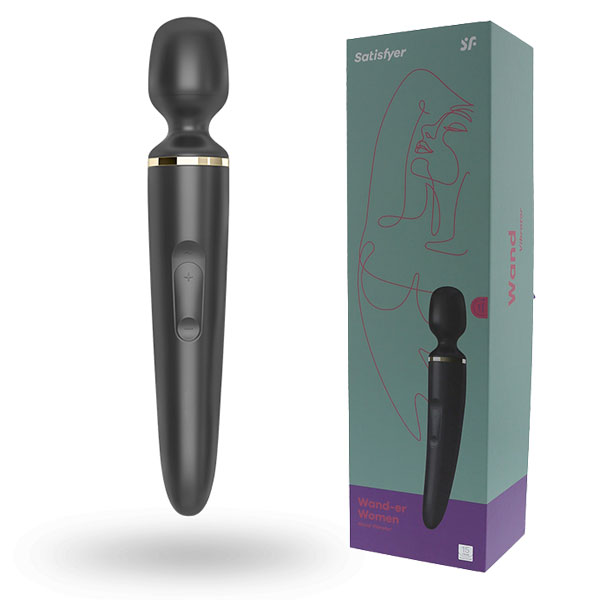 Satisfyer Wand-Er Woman (Black) | Massage Wands